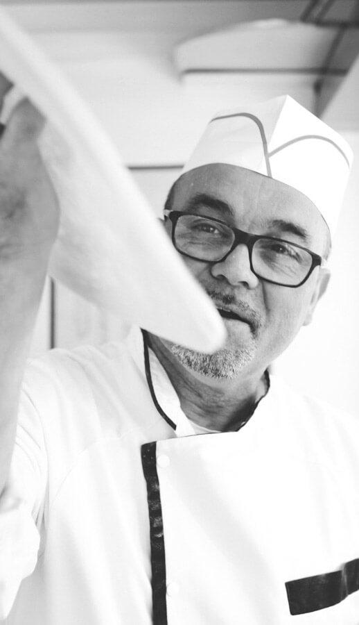 Nicola Alagia pizzaiolo à La Minitalie